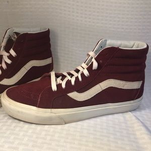 Vans Off the Wall High Top Skateboard Shoes Maroon